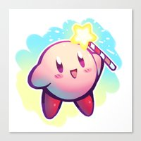 kirby Canvas Prints featuring KIRBY! by limb