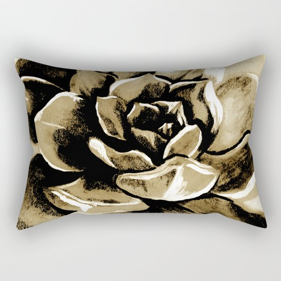 Succulent sepia Rectangular Pillow