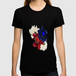 Red White Blue Floral Gems T-shirt
