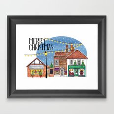 Special Edition Holiday Print: Merry Christmas by Charlotte Vallance Framed Art Print