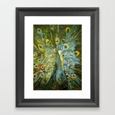 Green Peacock  Framed Art Print