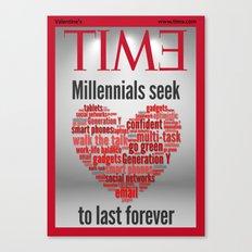 millennials seek love to last forever Canvas Print
