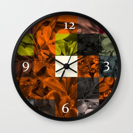 Foliage Patchwork #9 Wall Clock