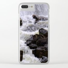 Lowell Tannery Hydro Dam Spring Rush Clear iPhone Case