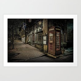 Savannah Ga Six Pence Pub Art Print