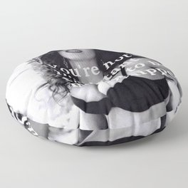 You're Not Important Enough To Be Microchipped! - Humorous 2020 Quote black and white photograph / black and white photography Floor Pillow