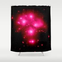 constellation Shower Curtains featuring constellation : 7 Sisters of Pleaides by 2sweet4words Designs