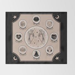 Witch Accessories Throw Blanket