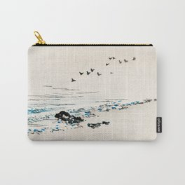 Birds Over The Ocean - Vintage Japanese Illustration Carry-All Pouch