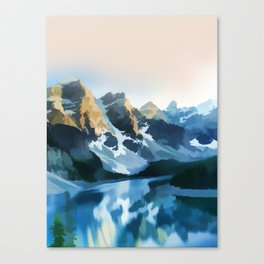 On the lake Canvas Print