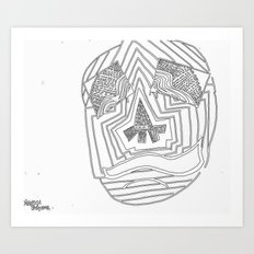 Mask #1: Eyes of Rain  Art Print