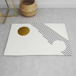 Soir 01 // Abstract Geometry Minimalist Illustration Rug