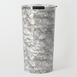 Cool Silver Aluminium Foil Texture Travel Mug