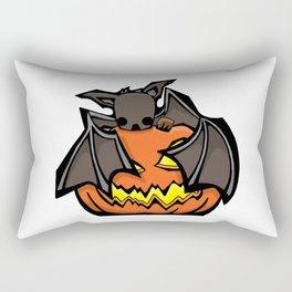 Bat and Jack O'Lantern | Halloween Series | DopeyArt Rectangular Pillow
