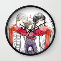 jem Wall Clocks featuring Jem, Tessa and Will by The Radioactive Peach