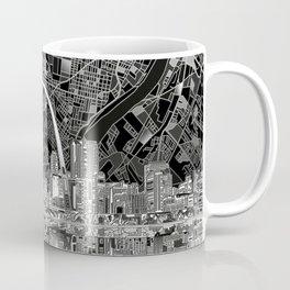 st louis city skyline map Coffee Mug