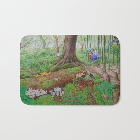A Day of Forest (5). (dead wood ecosystem) Bath Mat