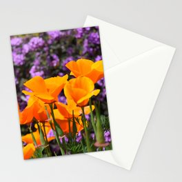 Poppies And Purple Lantana Stationery Cards
