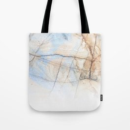 Cotton Latte Marble - Ombre blue and ivory Tote Bag