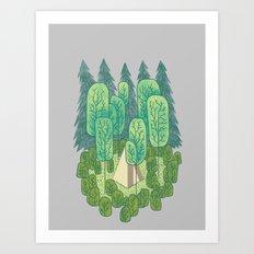 Sleeping Amongst Trees Art Print
