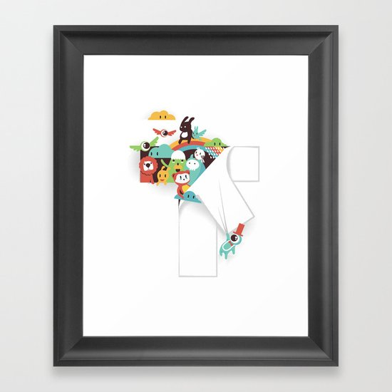 There is a T in the Team (but no I) Framed Art Print