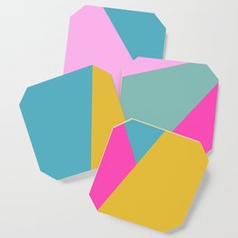 Geometric Color Block #11 Brights Coaster