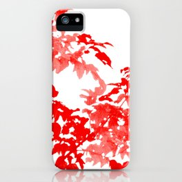 Red Leave Silhouette iPhone Case