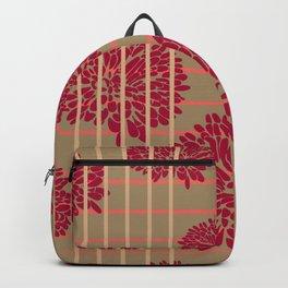 Shine Stripes - Magenta Pink and Tan Backpack