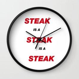 Steak is a Steak is a Steak Wall Clock