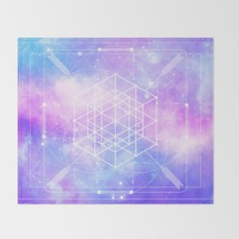 Sacred Geometry (Universal Consciousness) Throw Blanket