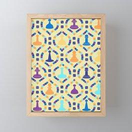 Game Board - Cream Framed Mini Art Print