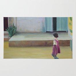 African Girl Rug