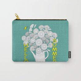 hello summer with yellow butterfly Carry-All Pouch