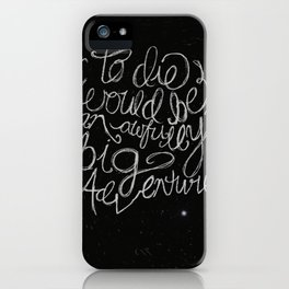 Peter Pan Quote iPhone Case