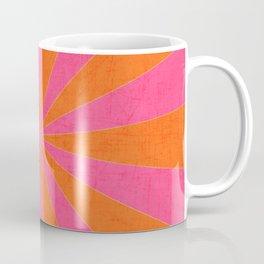 orange and hot pink starburst Coffee Mug