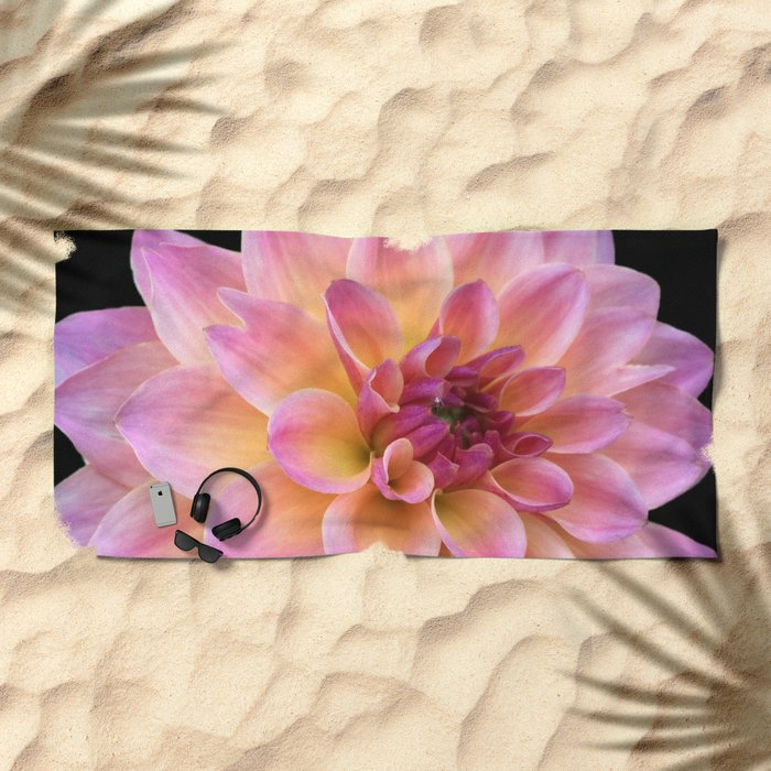 Dahlia in Bloom Beach Towel