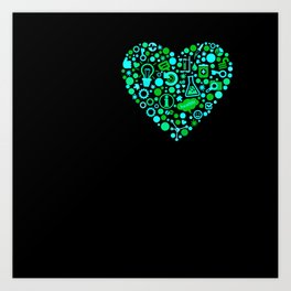 I Heart Stem Cell Research Art Print