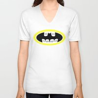 comic book V-neck T-shirts featuring Braces/ Comic book by Aztec Pineapple