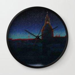 Daugava Predawn  Wall Clock