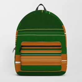 Green and Orange Plaid Backpack