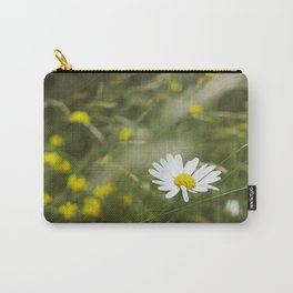 Flower. Oxeye Daisy (Leucanthemum vulgare) growing wild. Carry-All Pouch