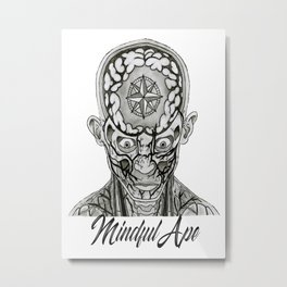 Mindful Ape Metal Print