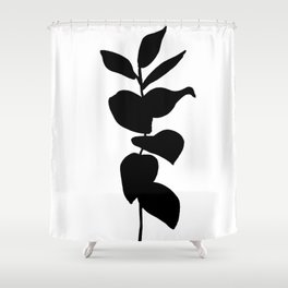 Leaves ink painting - Evie Shower Curtain