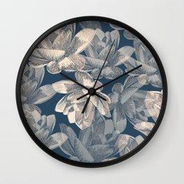 Lotos pattern Wall Clock
