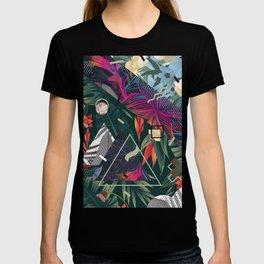 Floral Memphis Style T-shirt