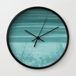 Abstract Blue Forest Paint Strokes Wall Clock