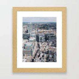 London from Above Framed Art Print