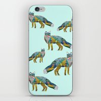 foxes iPhone & iPod Skins featuring Foxes by nessieness
