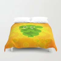 ganesha Duvet Covers featuring Ganesha by Plushedelica