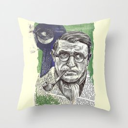 Sartre  - Nothingness Throw Pillow